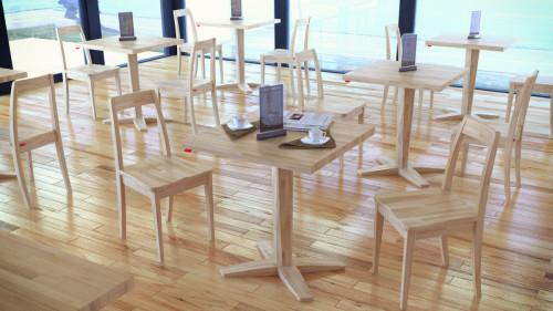 โต๊ะอาหาร ขาเดียว สำหรับร้านอาหาร