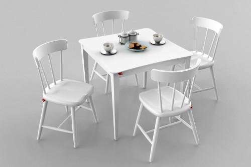 โต๊ะร้านอาหาร สีขาว