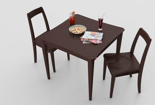 โต๊ะร้านอาหาร สีน้ำตาล