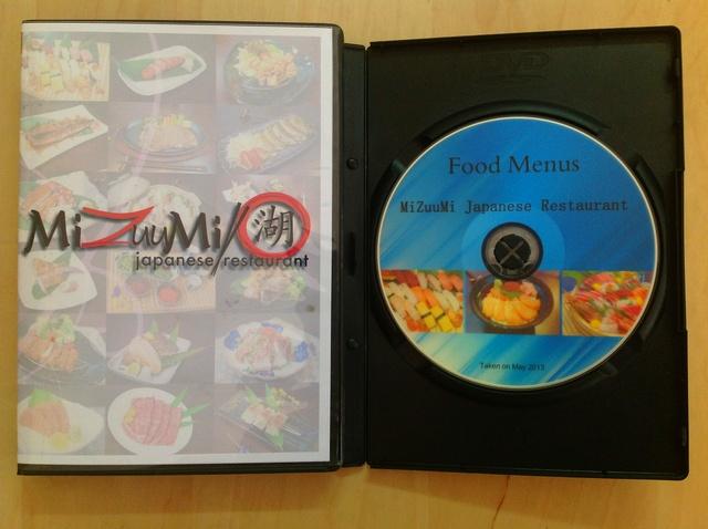 จัดส่งผลงานภาพถ่ายอาหารแบบDVDboxset